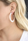 Acrylic Hoops, White