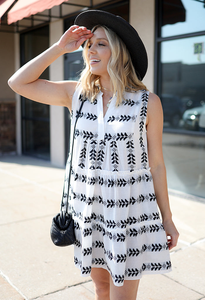 Athens Tiered Sleeveless Dress
