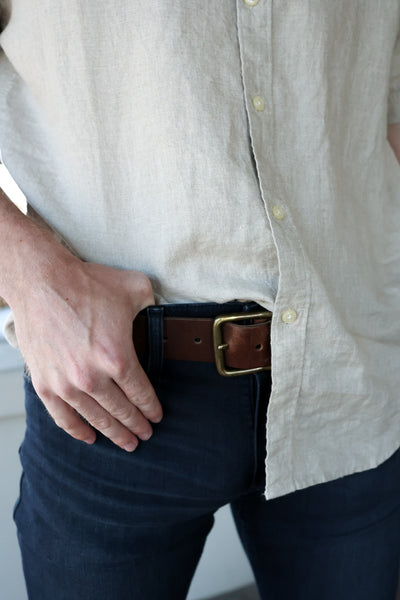 Red Wing Amber Pioneer Leather Belt