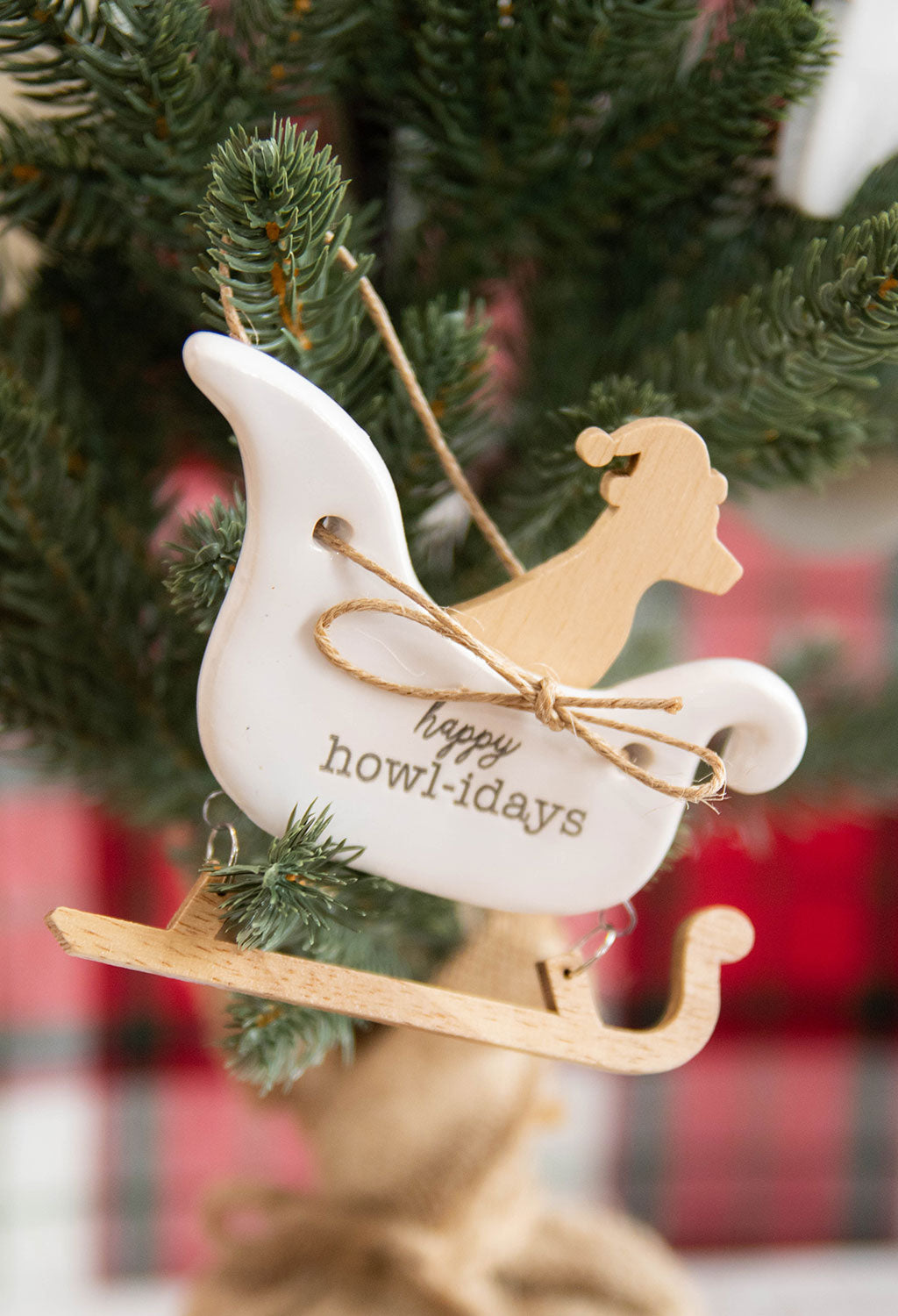Santa Paws Ceramic Ornament