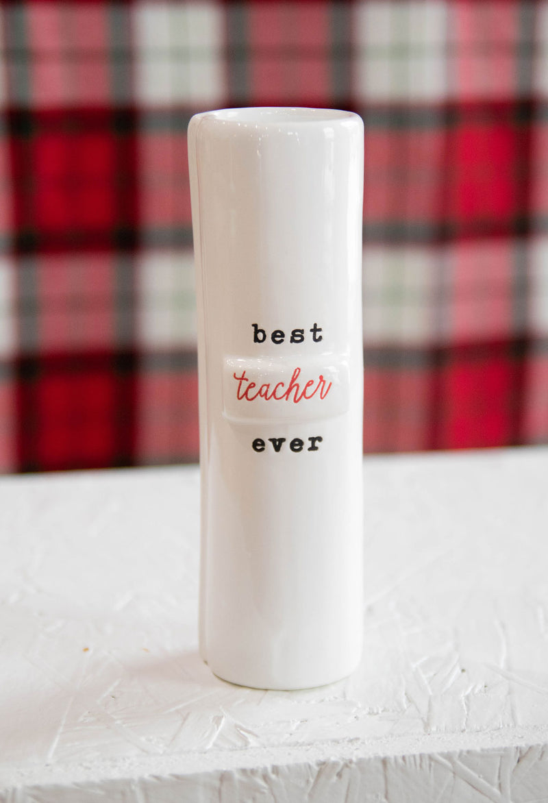 Teacher Stem Vase: Best Teacher Ever