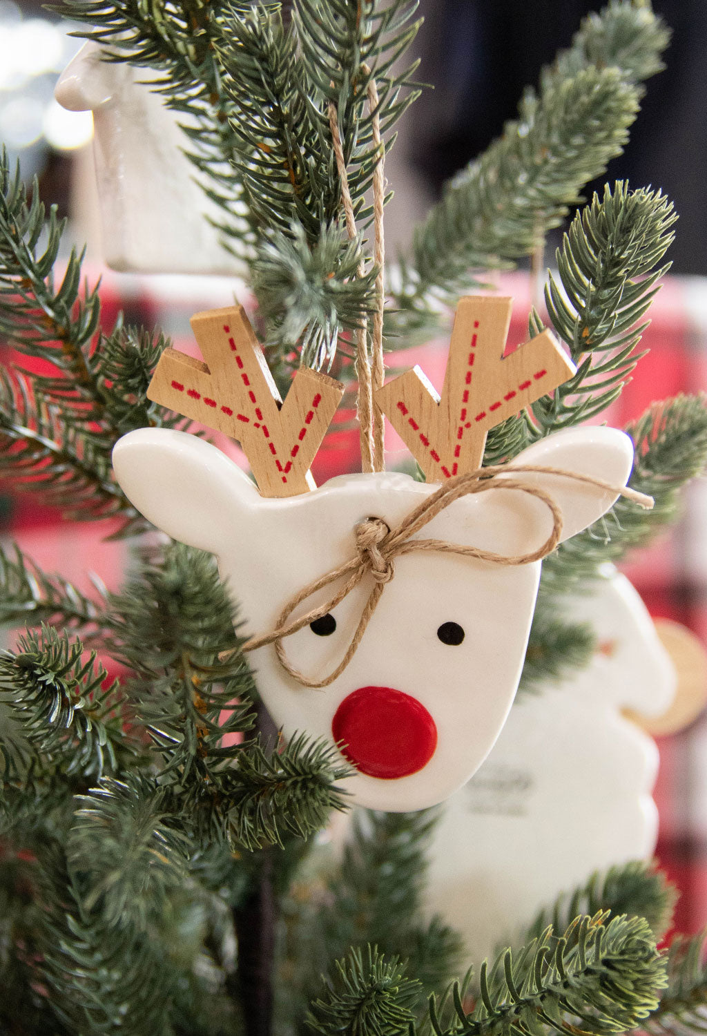 Reindeer Cermaic Ornament