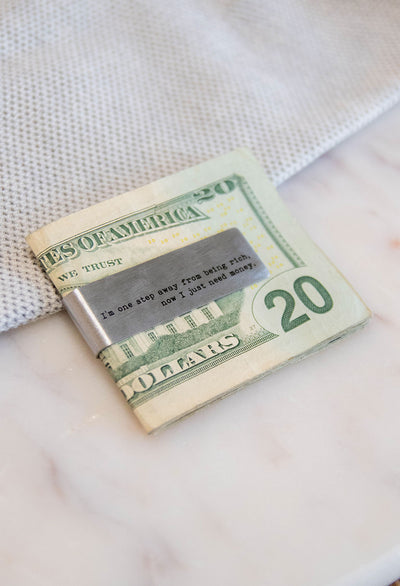 Sentiment Money Clip - RUST & Co.
