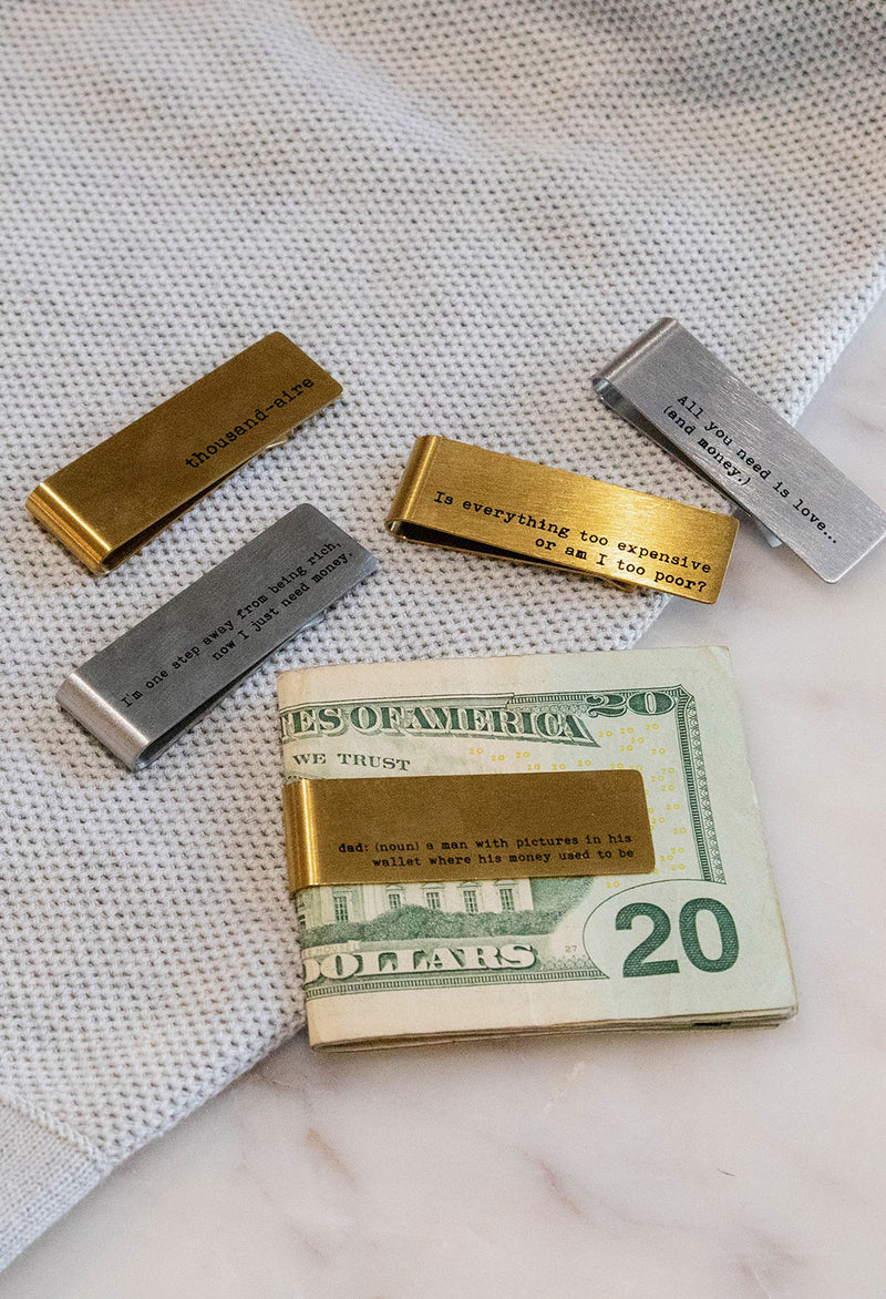 Money Clip w/ Humor Sentiment