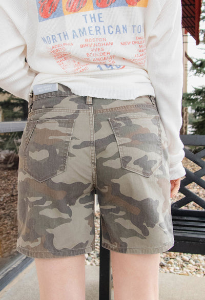 Mid Rise Camo Shorts - RUST & Co.