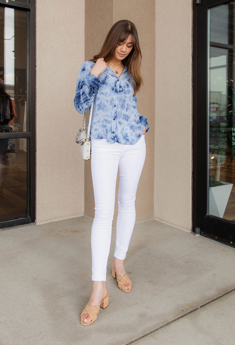 Bella Dahl Button Down Tie-Dye Shirt