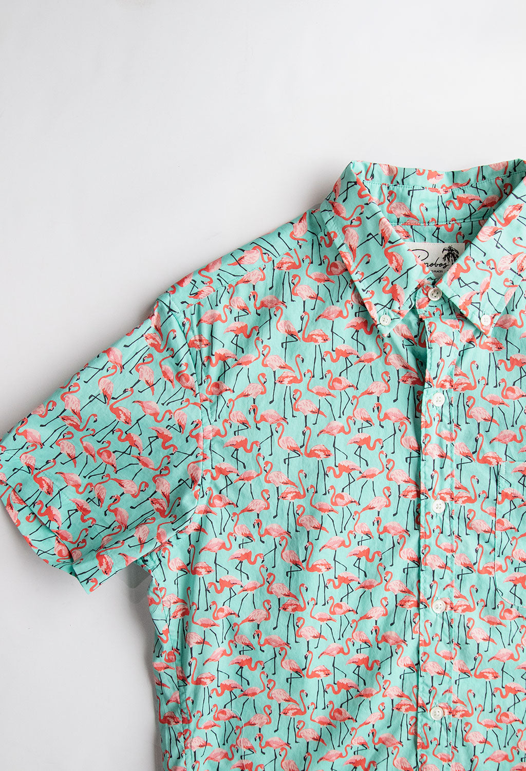 Bonobos Short Sleeve Riviera Shirt, Flamboyance of Flamingo