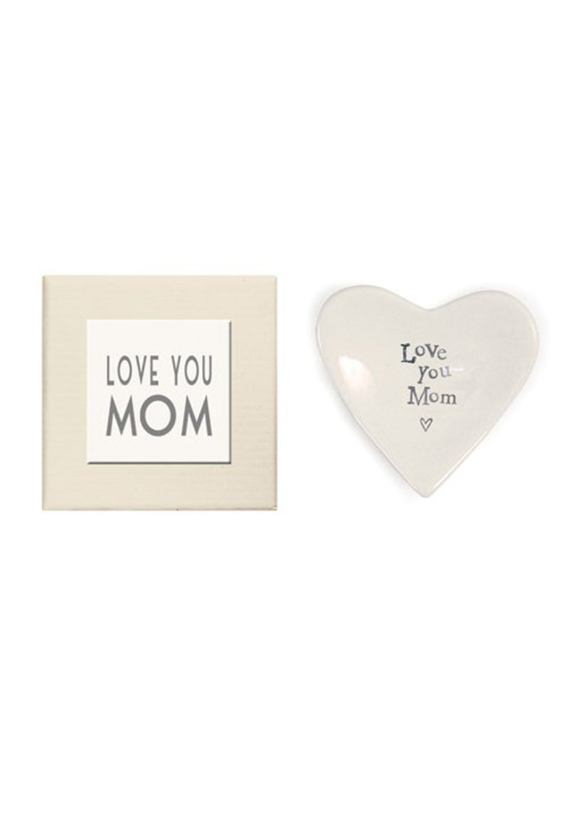 Love You Mom Heart Dish - RUST & Co.