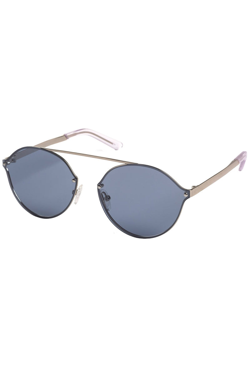 Pilgrim Sunglasses, Zadie Silver Plated Blue - RUST & Co.