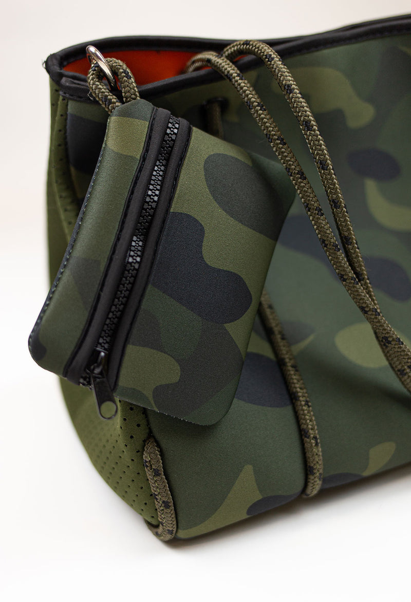 Army Camo w/ Army Perforated Sides Tote - RUST & Co.