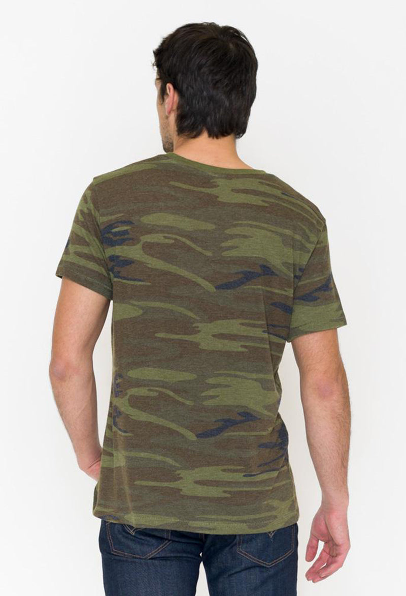Alternative Camo Printed Eco Crew T-Shirt - RUST & Co.