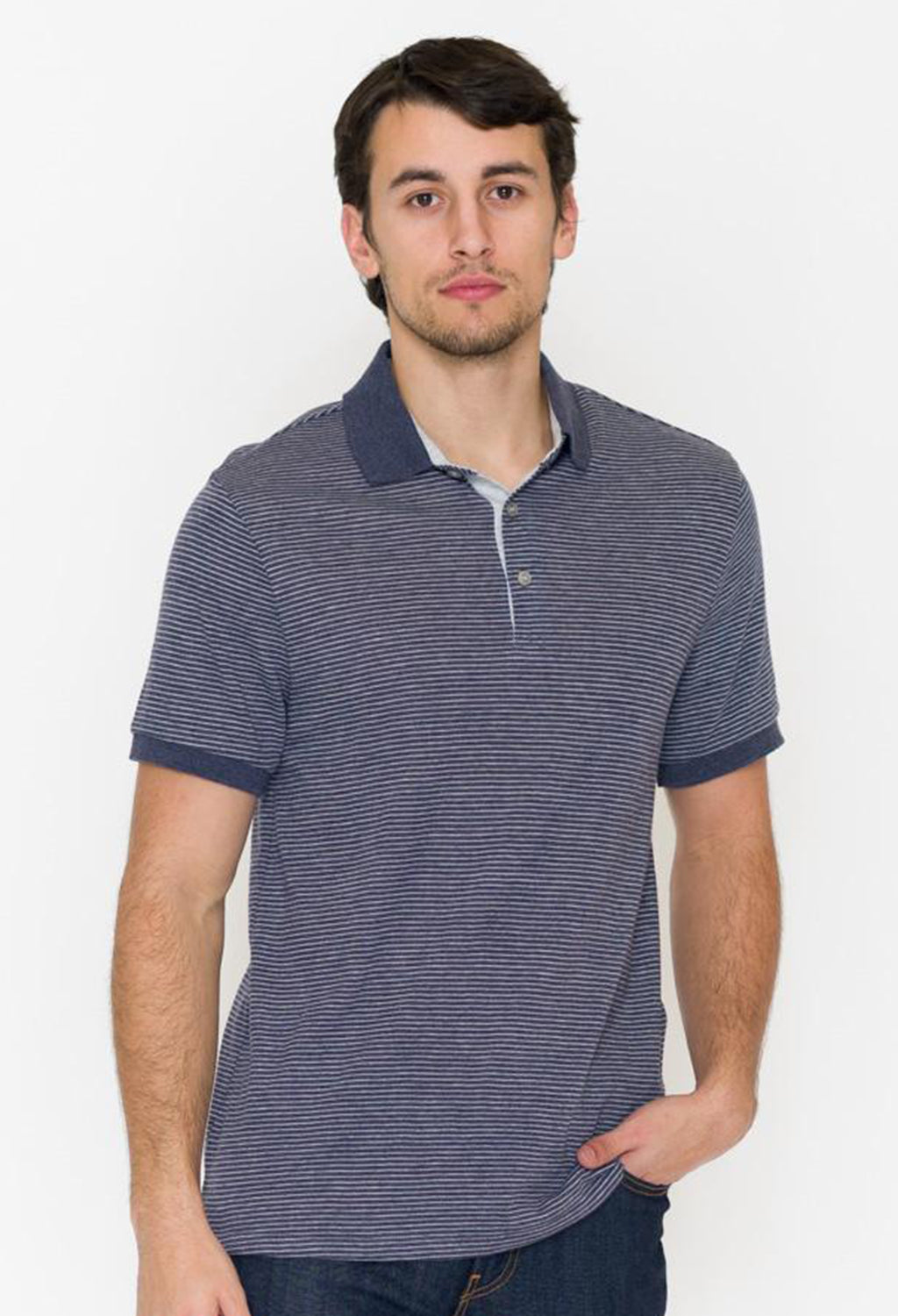 Alternative Eco Striped Polo - RUST & Co.
