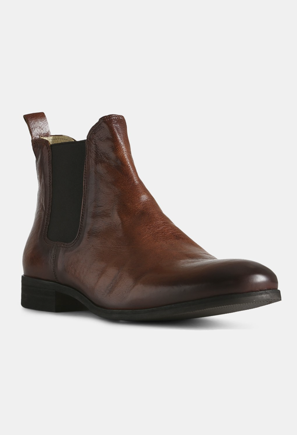 Arnie Brown Leather Pull-On Boot
