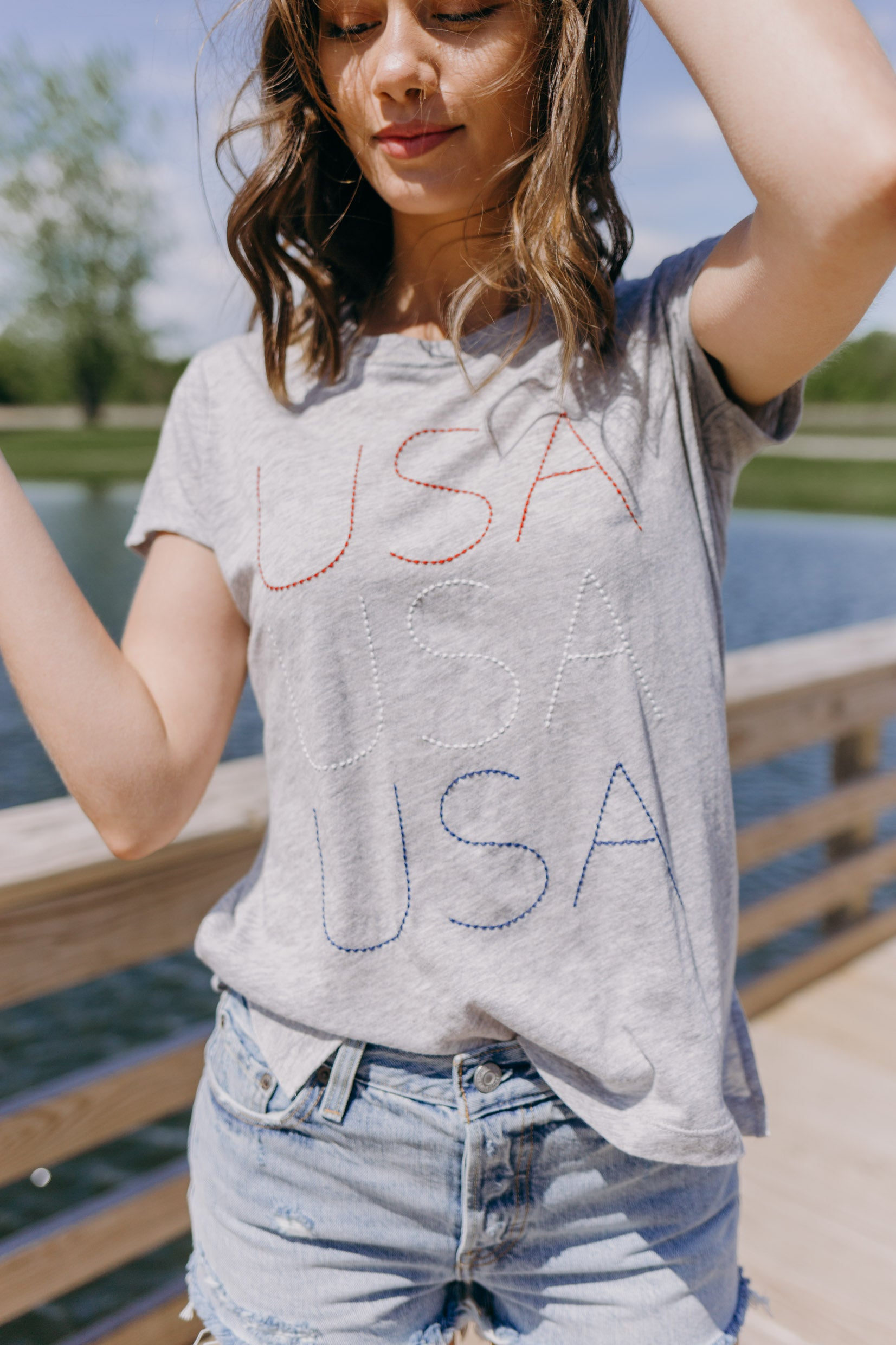 PJ Salvage USA T-shirt