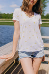 Rails Luna Tee, Lemon Print - RUST & Co.
