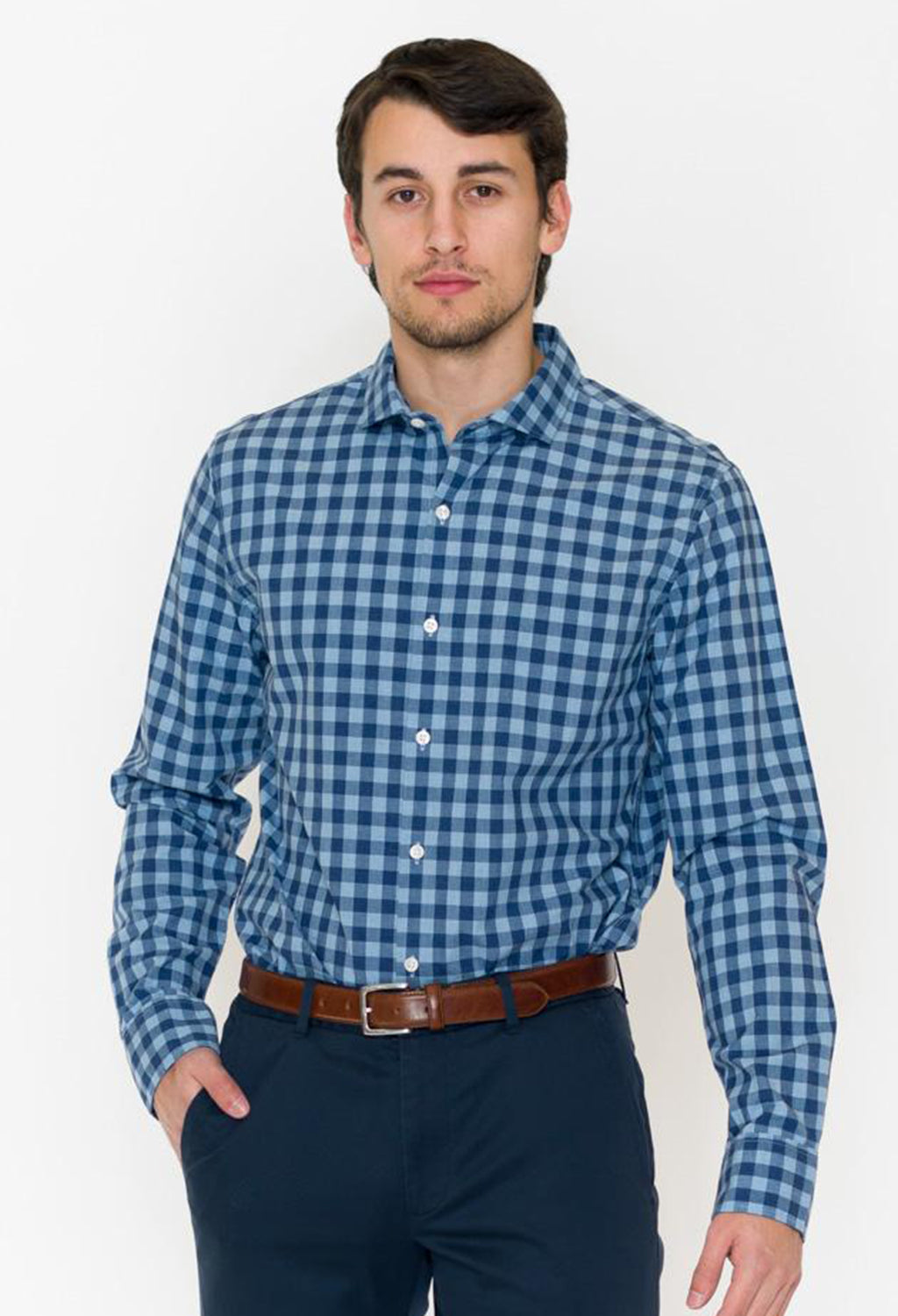 Bonobos Lone Gingham Button Down Slim - RUST & Co.