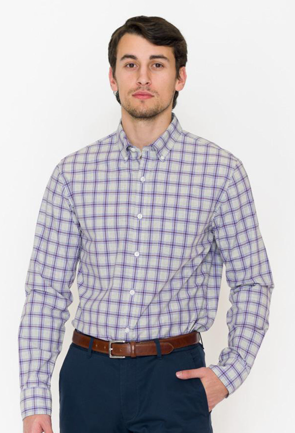 Bonobos Stonegate Check Washed Button Down