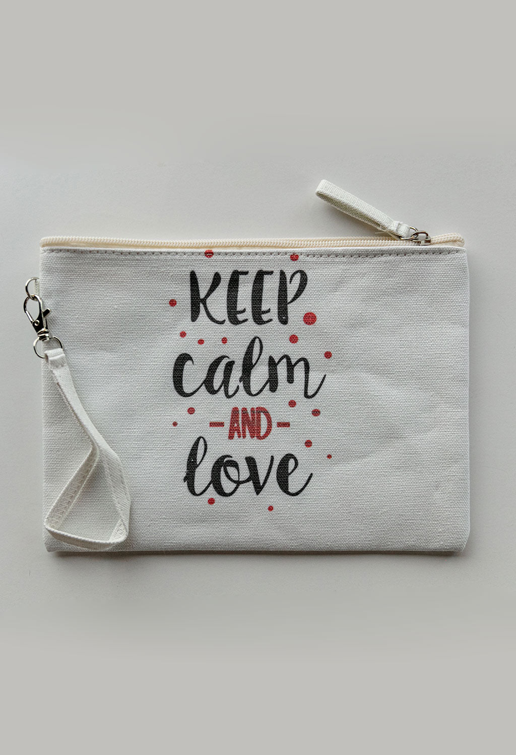 Keep Calm & Love Pouch, Large