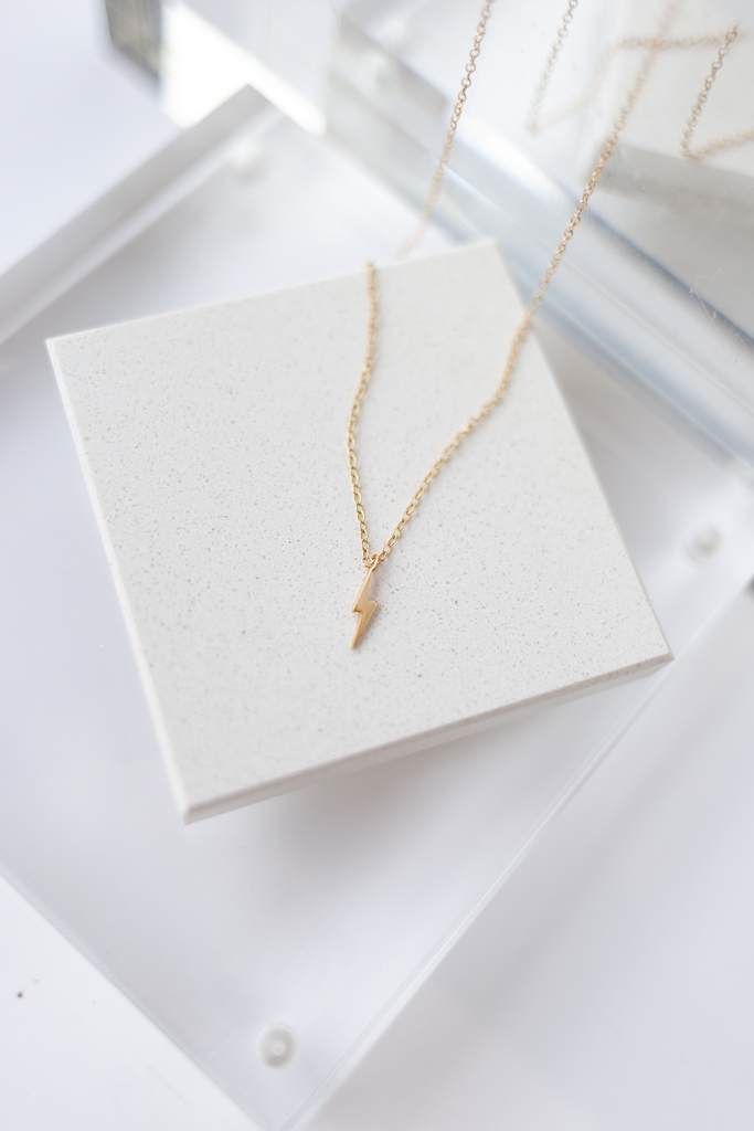 KN Gold Vermeil Ligtning Bolt Necklace