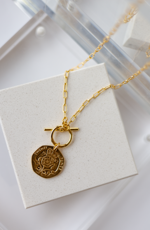 Elizabeth Coin Necklace 17""