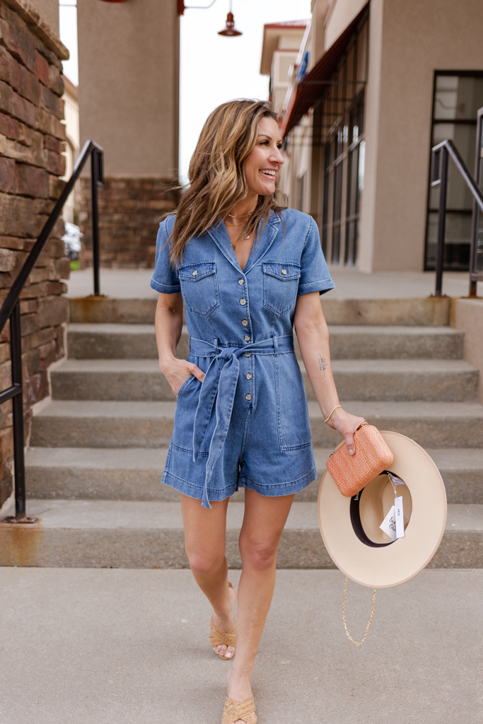 Rails Georgie Denim Romper
