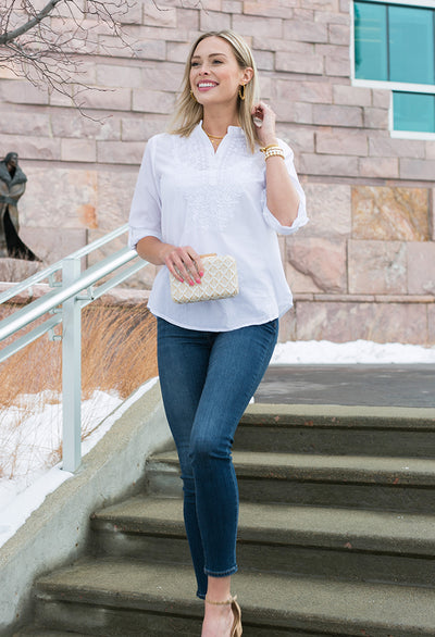 Jasmine Embroidered Tunic