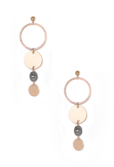 Claire Sapphire/Gold Drop Earrings