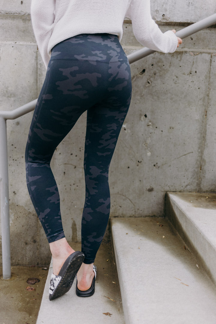 Spanx Black Camo Legging