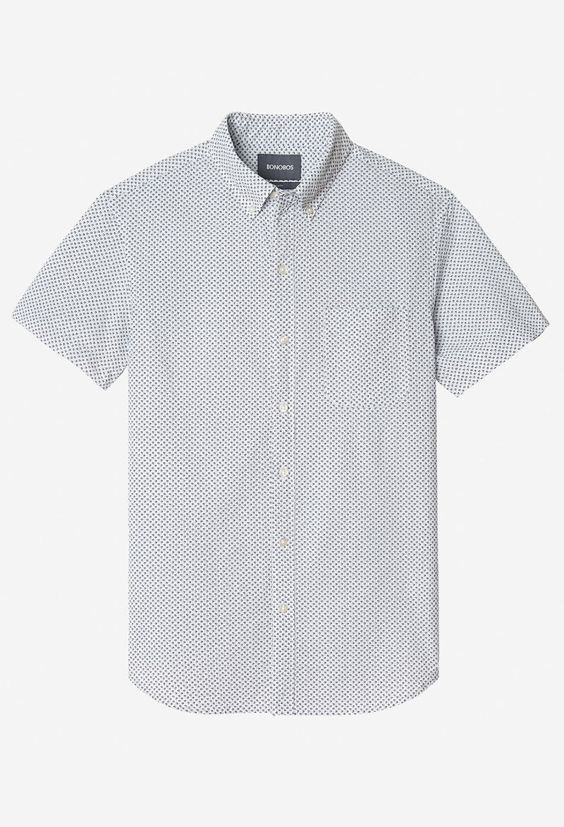 Bonobos Short Sleeve Riviera Shirt, Seersucker Print - RUST & Co.