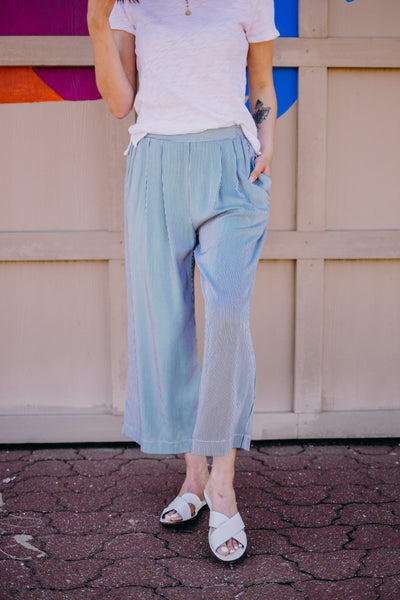 Relaxed Striped Culottes