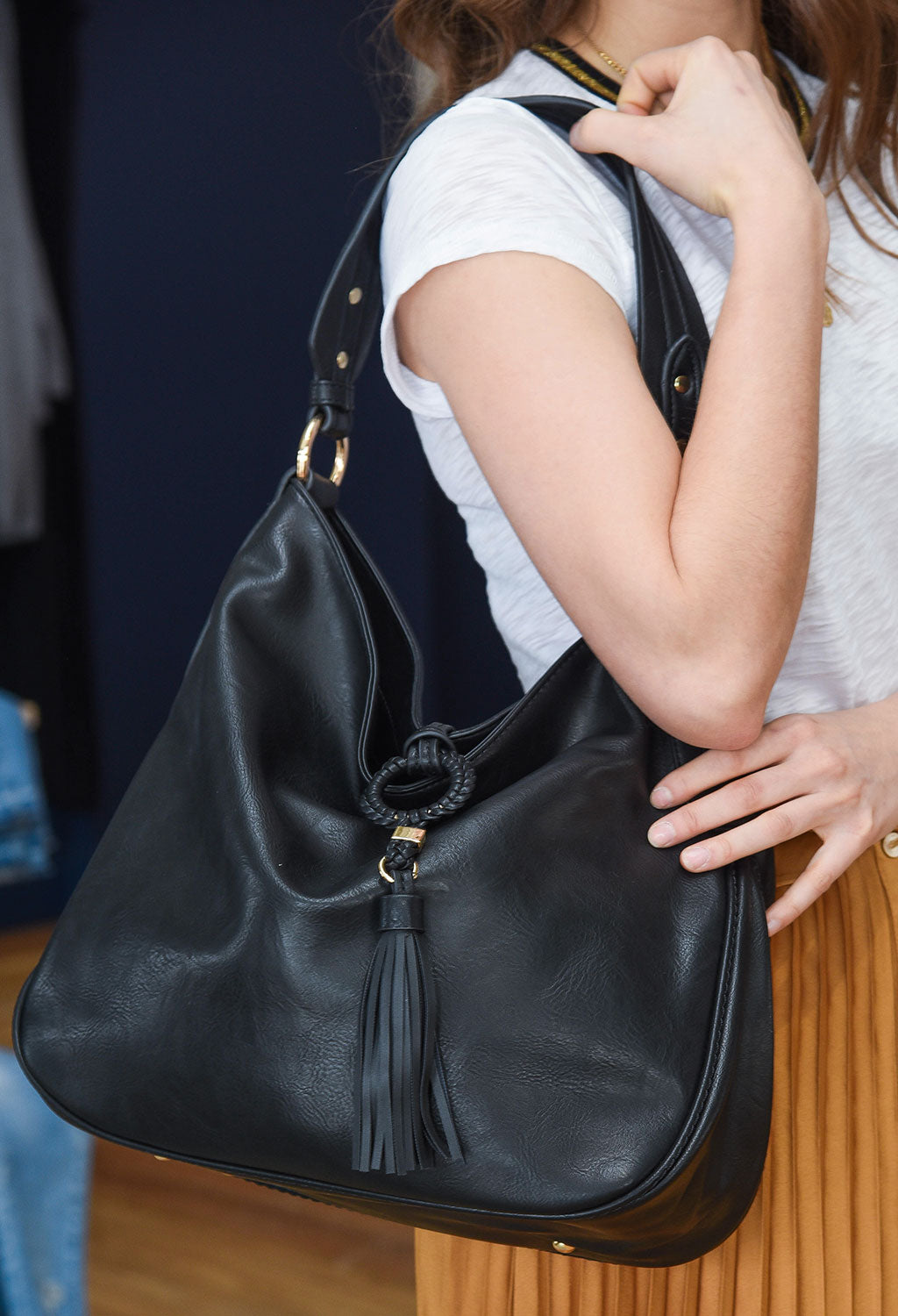 Kerry Tassel Hobo Bag