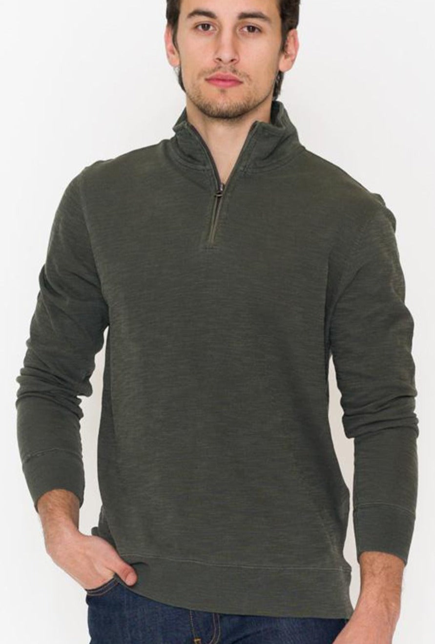 Faherty Slub Cotton Pullover