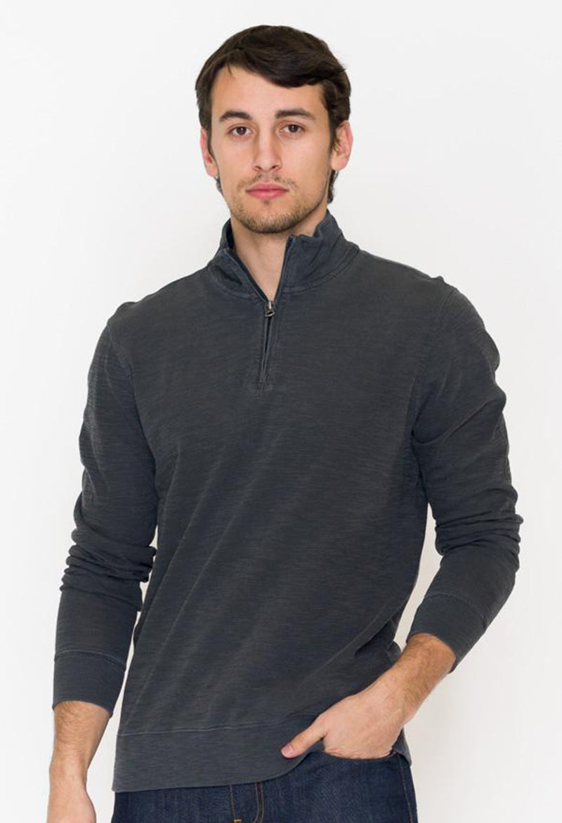 Faherty Slub Cotton Pullover - RUST & Co.