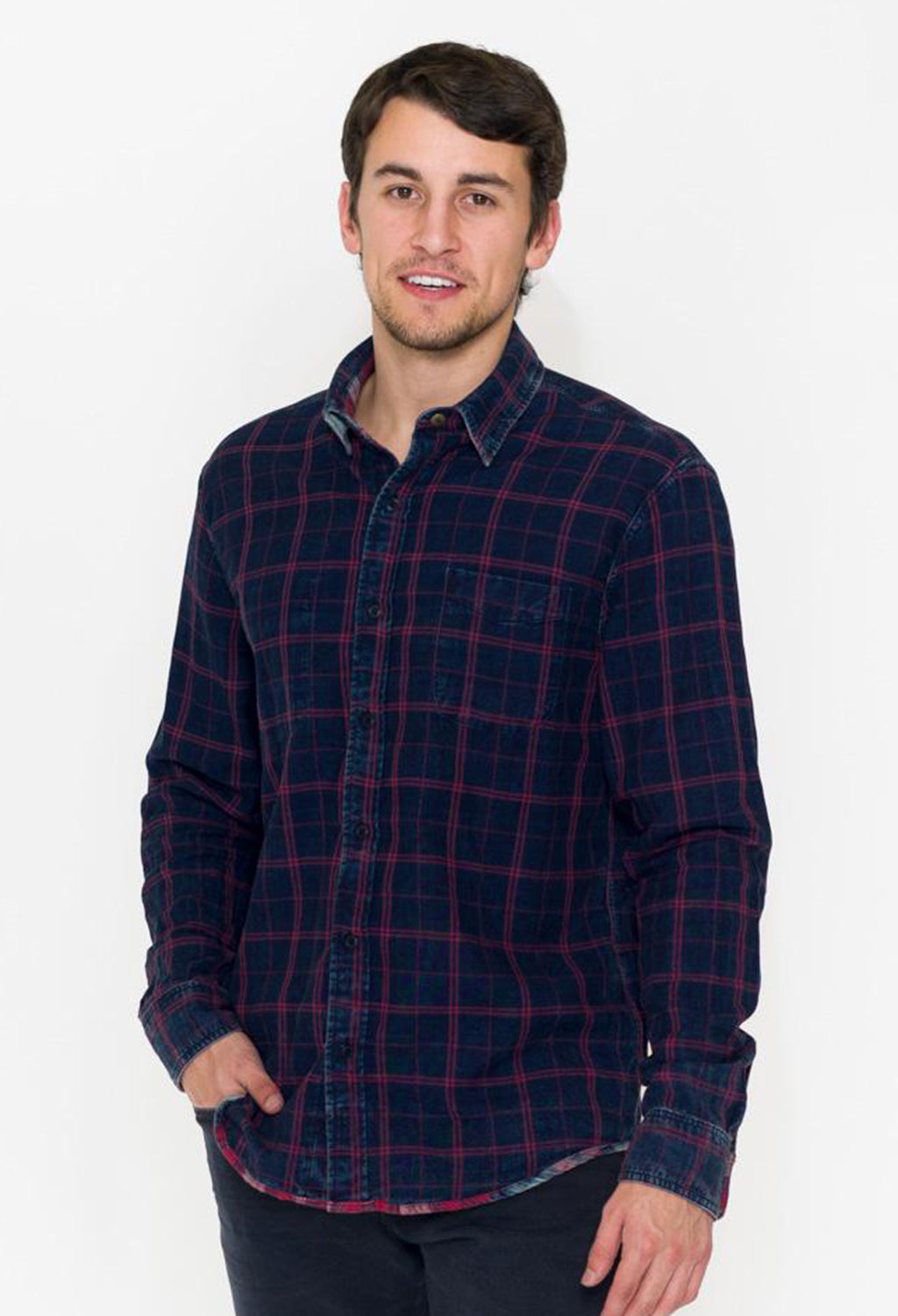 Faherty Ventura Shirt, Reversible Red Plaid