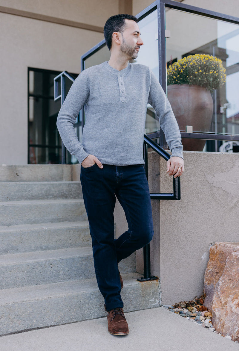 Bonobos Merino Henley Sweater - RUST & Co.