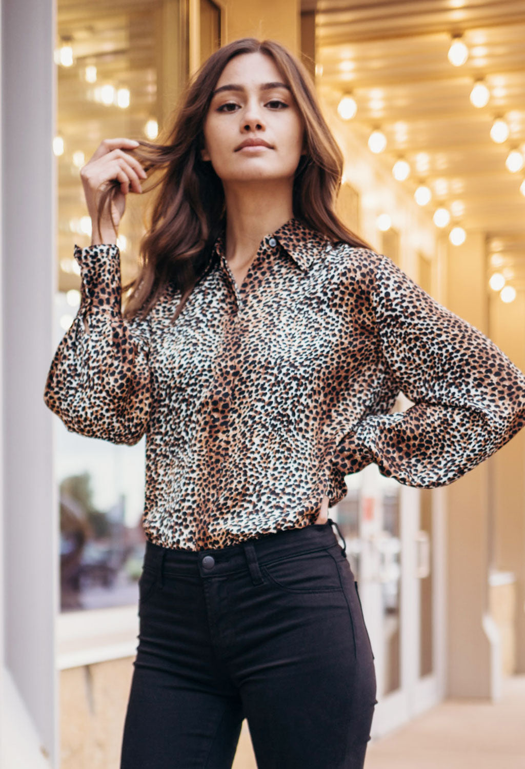 Equipment Didina Leopard Shirt