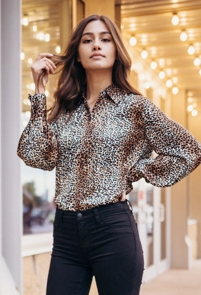 Equipment Didina Leopard Shirt - RUST & Co.