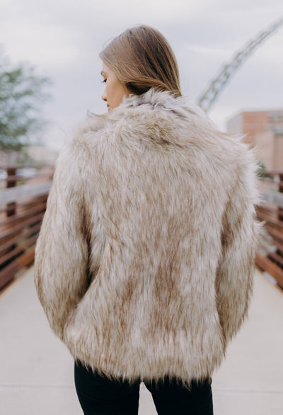 Lainy Faux Fur Bomber Jacket - RUST & Co.