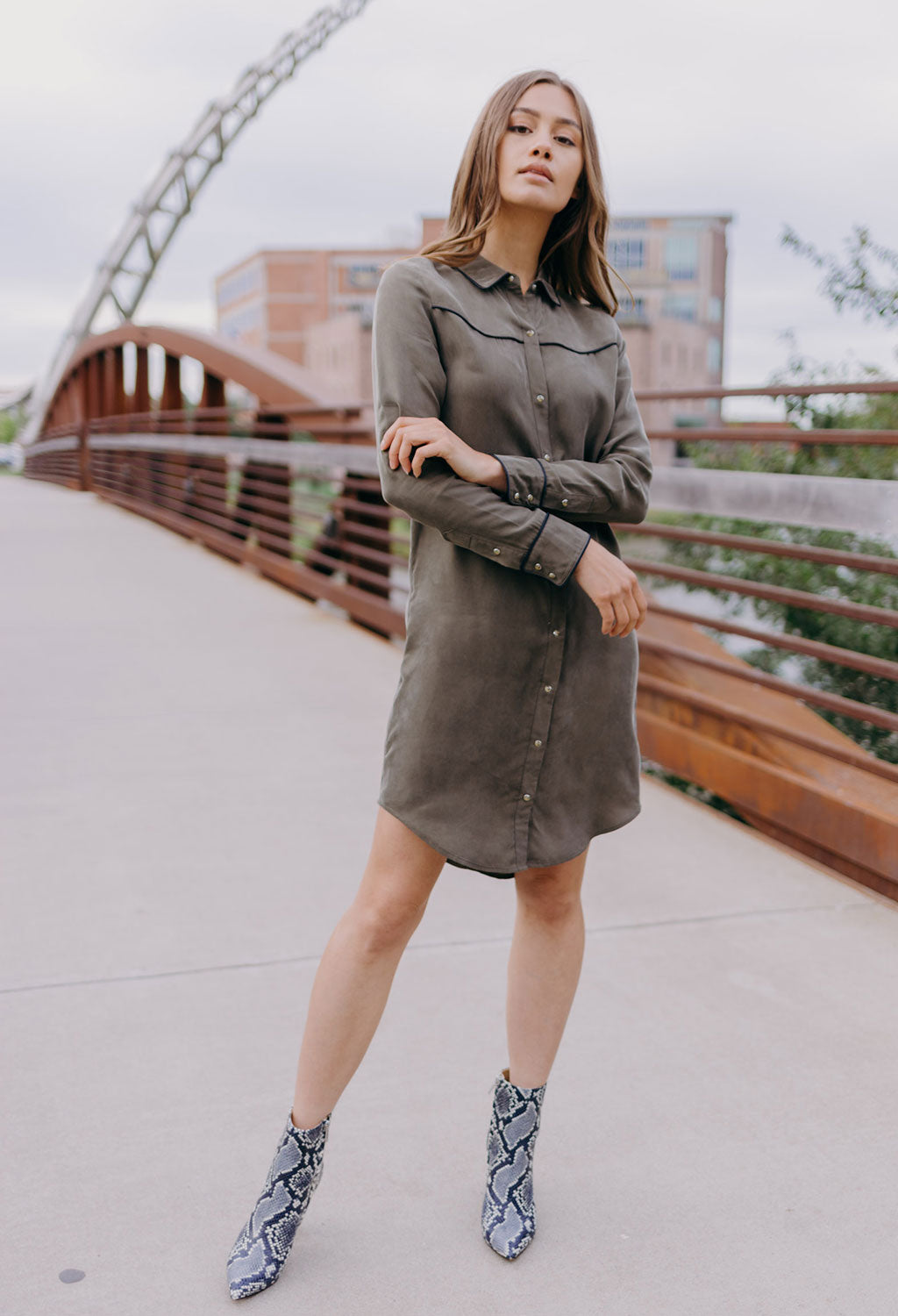 Scotch & Soda Shirt Dress With Western Yoke