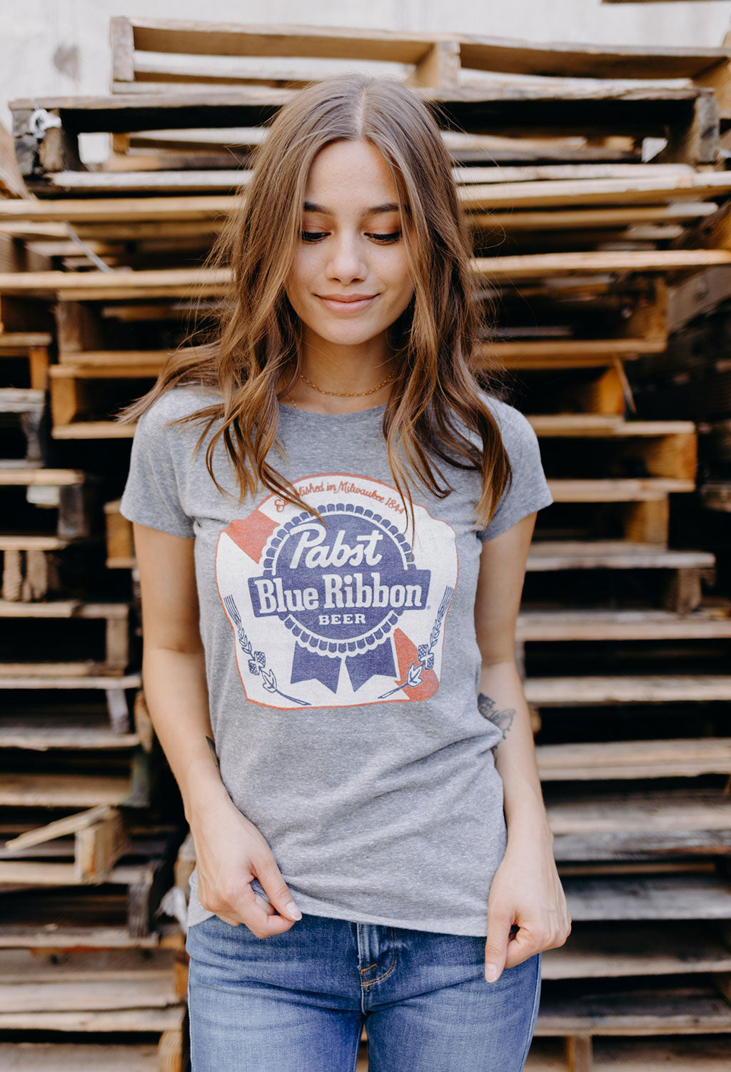 Pabst Blue Ribbon Womens T-Shirt