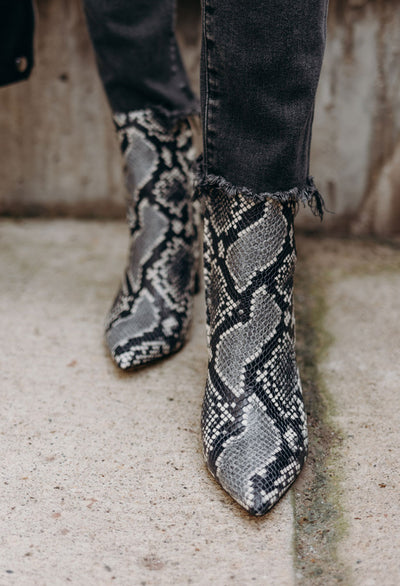 Marc Fisher Ulani Snake Bootie - RUST & Co.