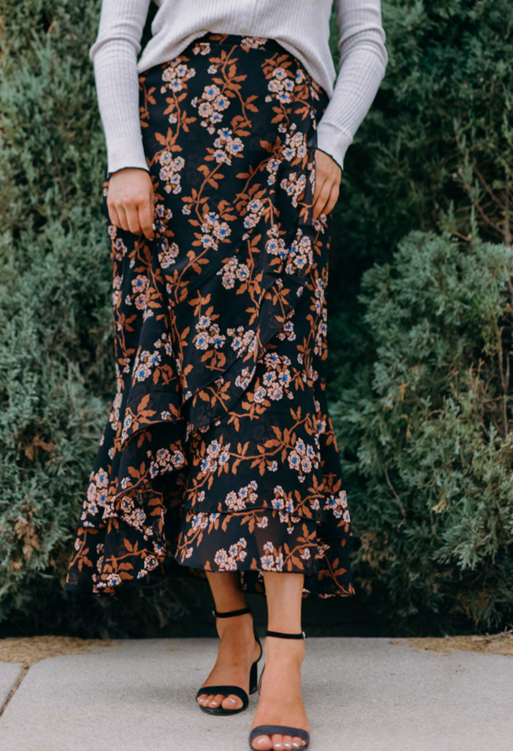 Scotch & Soda Floral Maxi Skirt