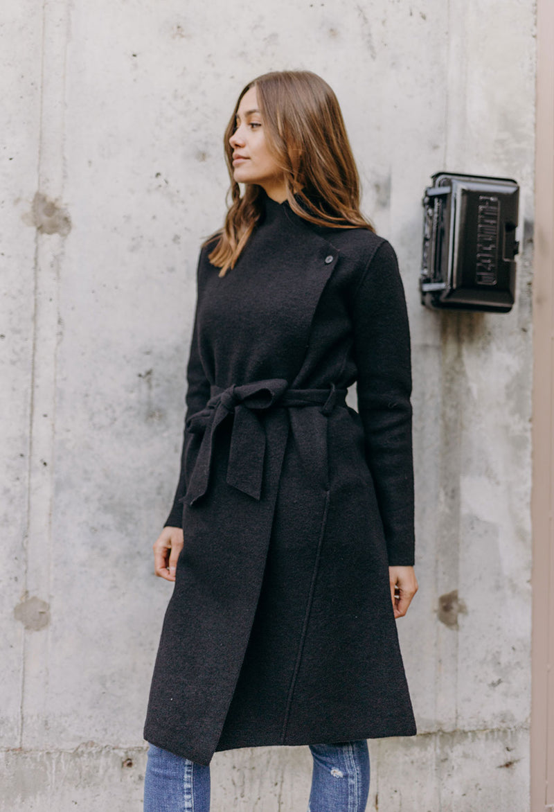 Line Sven Boiled Wool Trench Coat