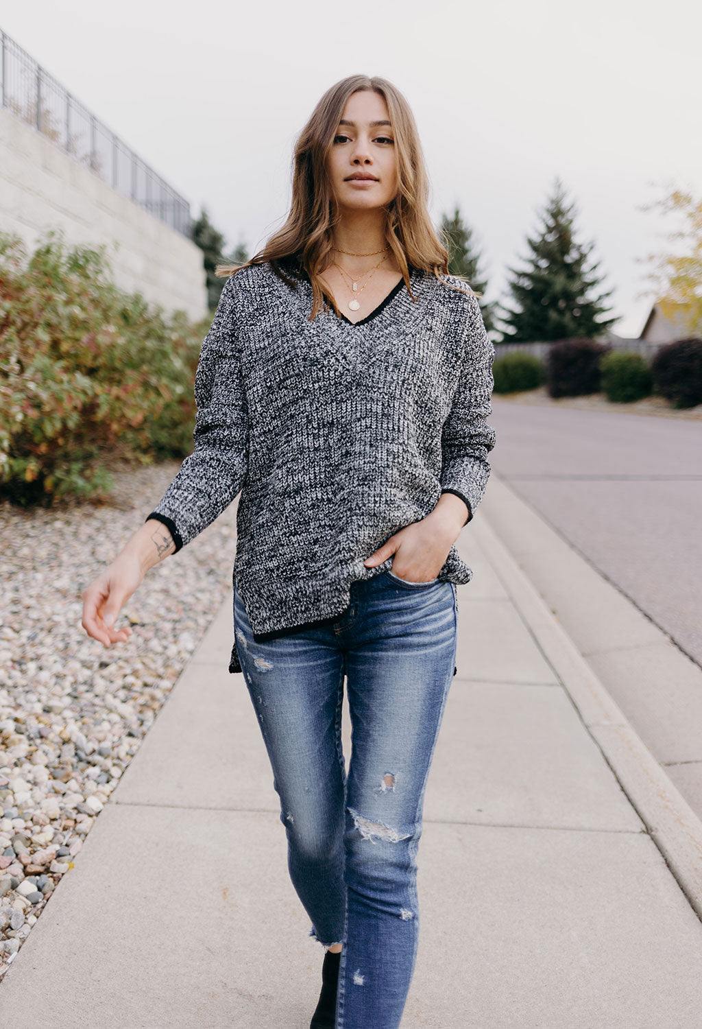 Maddox V Neck Sweater