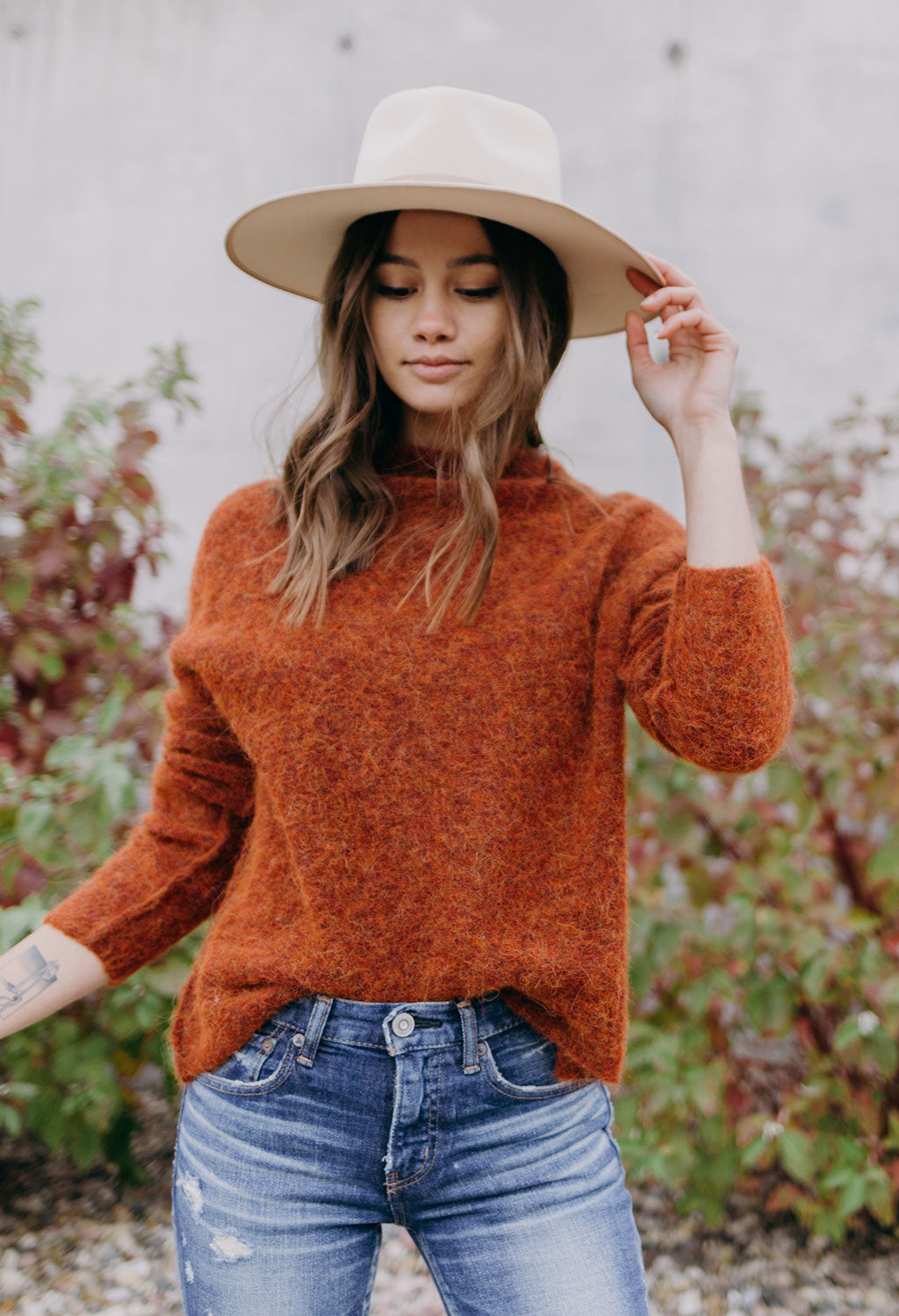 Line Sienna Mock Neck Sweater