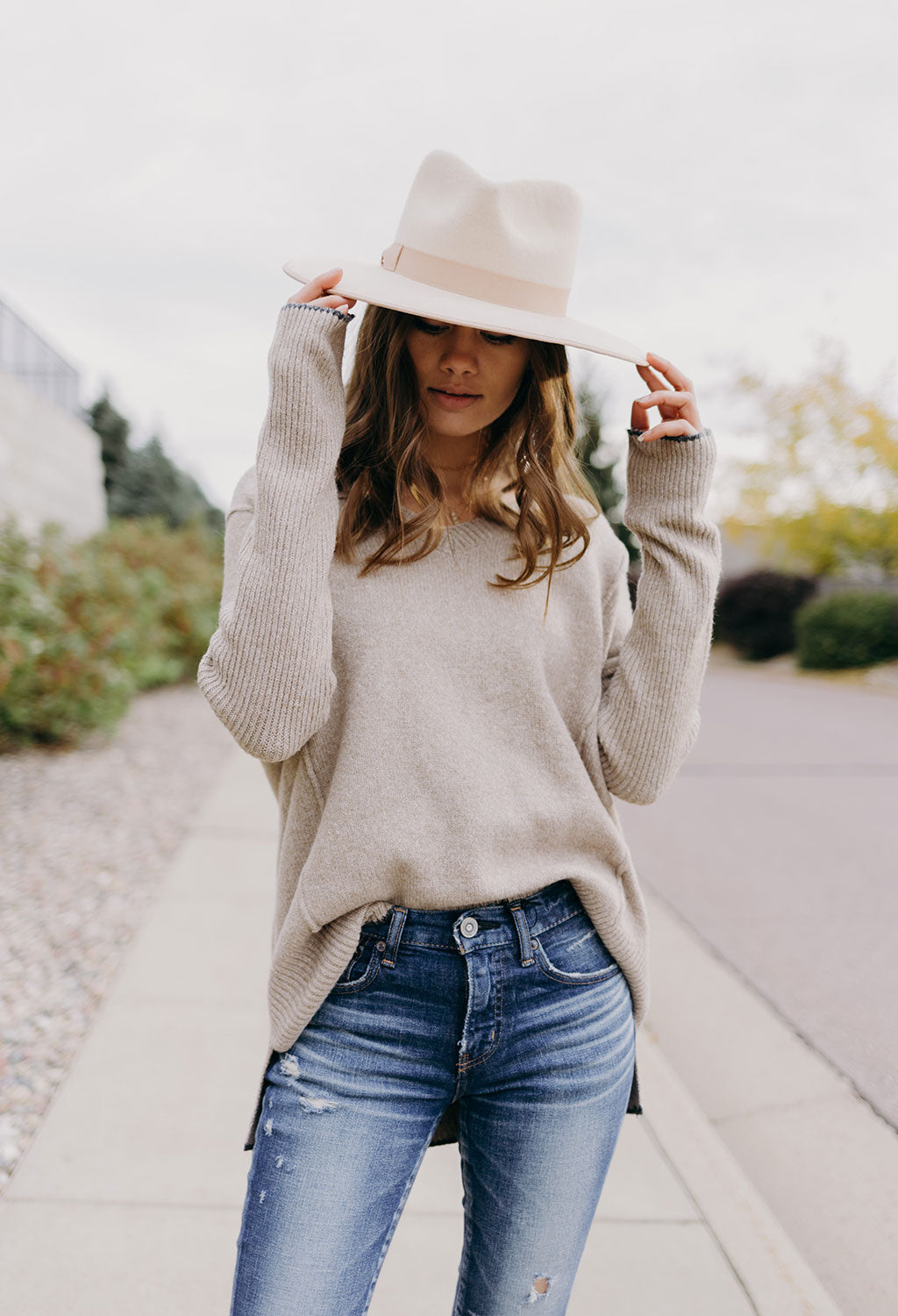 Humphrey Long V Neck Sweater