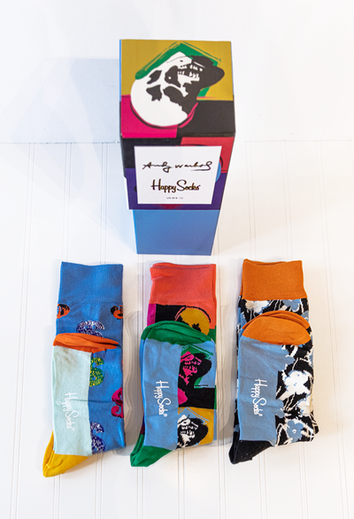 Happy Socks Andy Warhol Skull Gift Box