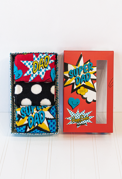 Happy Socks Super Dad Gift Box