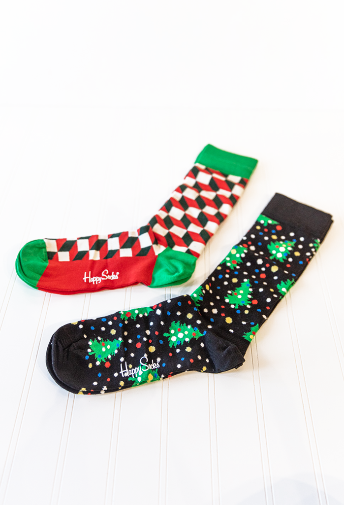 Happy Socks 2-Pack Happy Holidays Gift Box