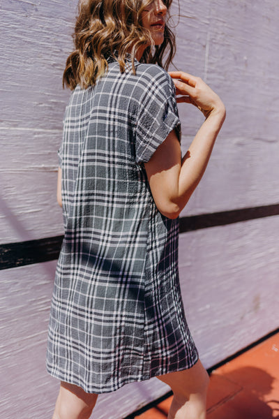 Calista Plaid Shirt Dress - RUST & Co.